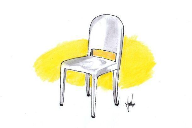 Disegno di sedia modello Morgans di Emeco