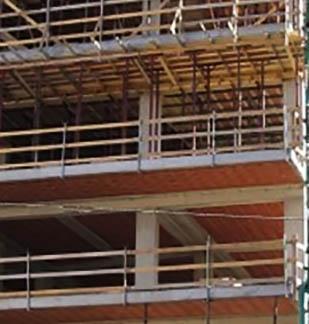 Una struttura in CA con alcune travi a spessore
