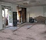 demolizione completa di tramezzi interni
