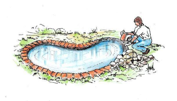 Fase rifinitura vasca flessibile da giardino