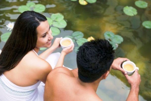 Colazione in riva al giardino acquatico