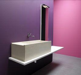 lavabo in cemento Elle2 di Moab 80