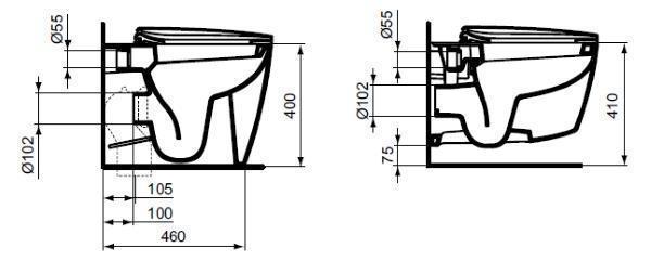 sezione vaso Dea di Ideal Standard