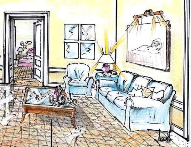 Soggiorno disegno Classico : ... Salotto Classico : Disegno di tavolino-bacheca in salotto classico