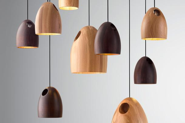 lampada in legno ross gardam