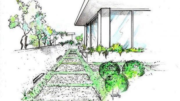 Vialetto in giardino con lastre di pietra come realizzarlo for Disegni frontali in pietra