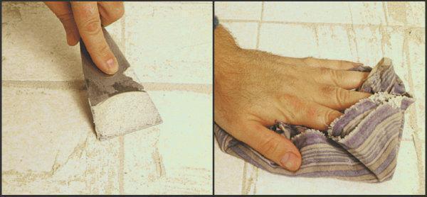 Pulire le fughe tra le piastrelle