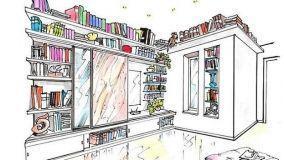 Libreria a muro: un progetto per vestire lo spazio