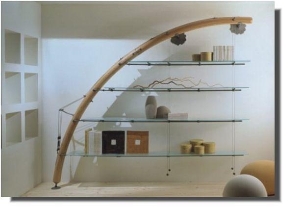 Librerie dal design insolito for Mensole ciliegio