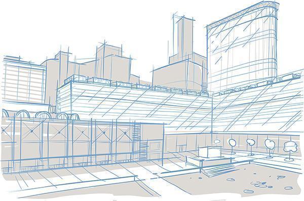 Uno schizzo preliminare, utile a visualizzare l'idea progettuale preliminare.