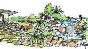 Come realizzare un giardino roccioso con cascata