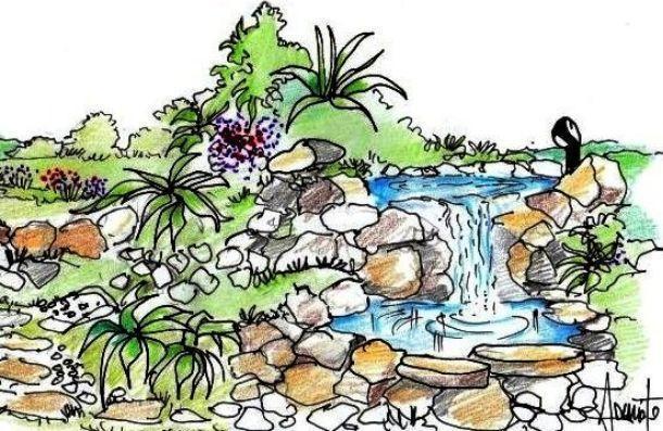 Giardino roccioso con cascata come realizzarlo - Costruire giardino roccioso ...