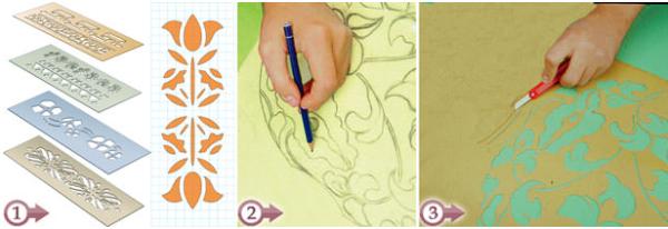 Preparare maschere per decorazioni stencil
