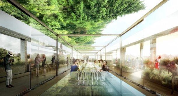 Ritorante Triennale Milano giardino sul tetto