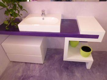 mobile bagno resina e cartongesso Resine Design