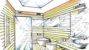 La luce del sole in un bagno senza finestra
