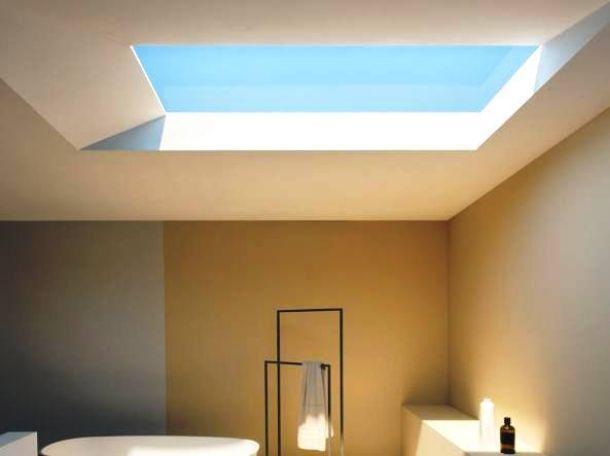 Progetto per bagno cieco come illuminarlo for Finestre a soffitto