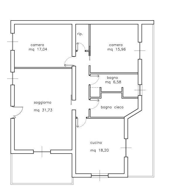 Calcolo r a i for 2 metri quadrati di garage