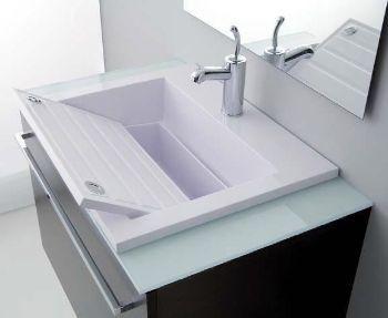 Lavandini Bagno Salvaspazio : Sistema combinato lavabo lavatoio