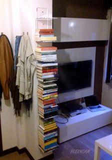 libreria verticale trasparente Plexycam