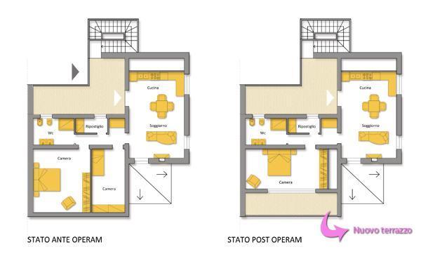 Realizzare un terrazzo in mansarda for Piani di un appartamento con una camera da letto