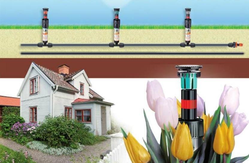Linea goccia irrigazione impianto
