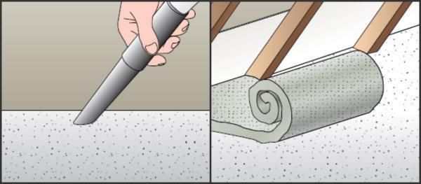 Isolare il solaio con tappeto isolante
