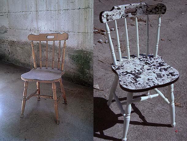 recupero creativo sedia, di DaMa RicreArt