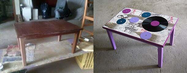 recupero creativo tavolo, di DaMa RicreArt