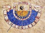 Meridiana decorata semicircolare
