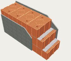parete monostrato in laterizio di Poroton