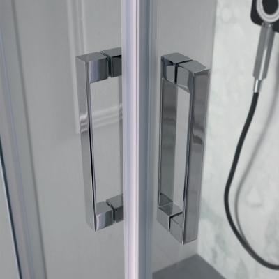 Box doccia angolare quadrato porte scorrevoli FLEX dettaglio maniglie