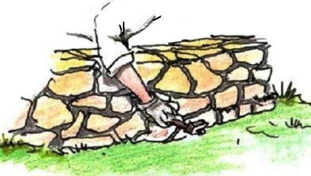 Muretto in pietra nel giardino come costruirlo - Muretti in pietra giardino ...