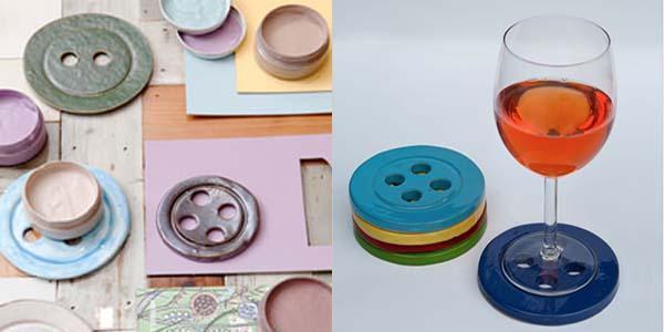 Cose di casa: piatti a forma di Bottoni, di Mark Pepper