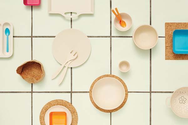 Cose di casa: biodegradabile Pla, Bio e Cork di Bitossi Home