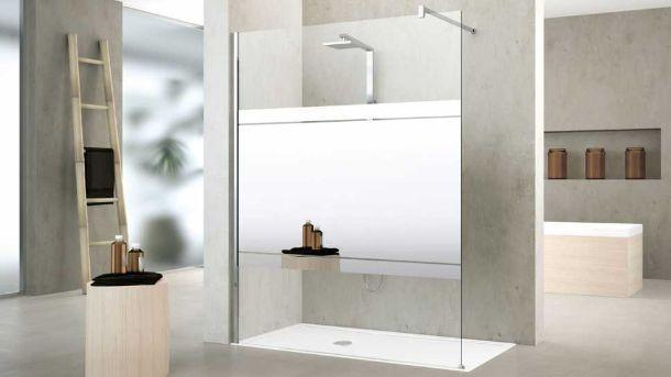 Doccia walk-in Kuadra H Mirror di Novellini