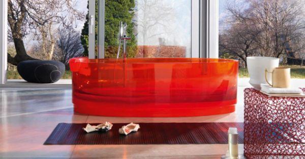 Vasca da bagno rossa Jolie