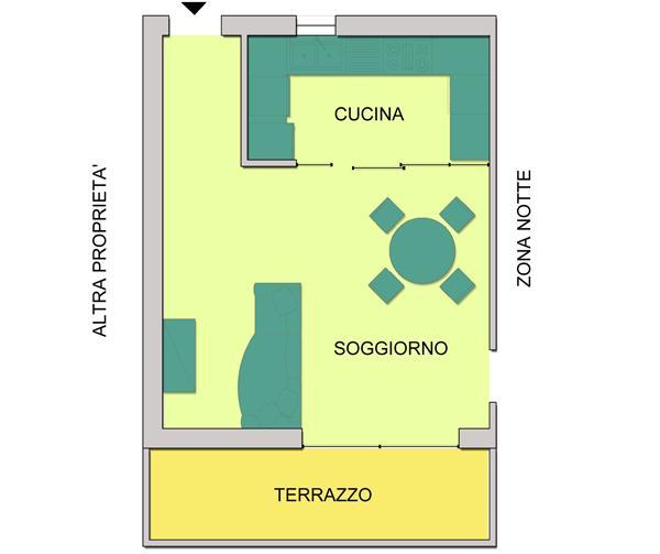 cucina con parete vetrata - Dividere Cucina Dal Soggiorno Con Vetro 2