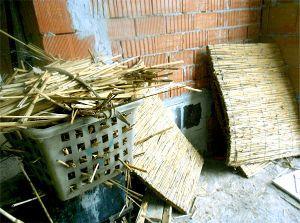 Cappotto interno in canna palustre. Foto: Luca Maioli architetto