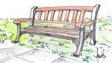 Panchina da giardino: progetto in legno e ghisa