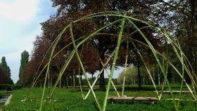 Come costruire una cupola in giardino con il bambù