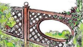 Piscina terrazza disegno : Recinzioni di legno in giardino: soluzioni progettuali