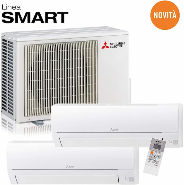 Mitsubishi Electric MXZ-2HA40VF Linea Smart, Set climatizzatore Dual Split