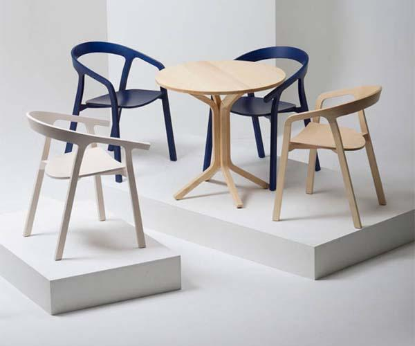 Wooden chairs of design for the living room for Sedie living design