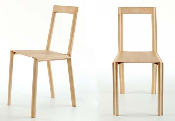 Sedia in legno Wotu chair, prodotta da Lamm