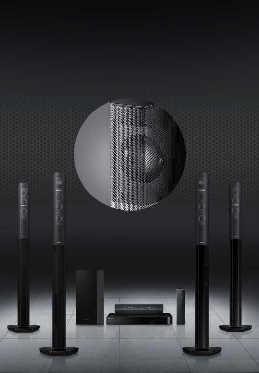 Sistema Home Entertainment Blu-ray J7500W da 1000W, 5.1Ch di Samsung