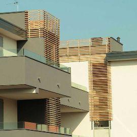 Facciata ventilata in legno di Xilo 1934