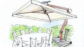 Progetto di ombrellone da giardino: design e tecnologia