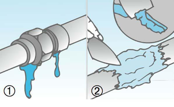 Riparare un tubo in fai da te for Caldaia ad acqua di plastica