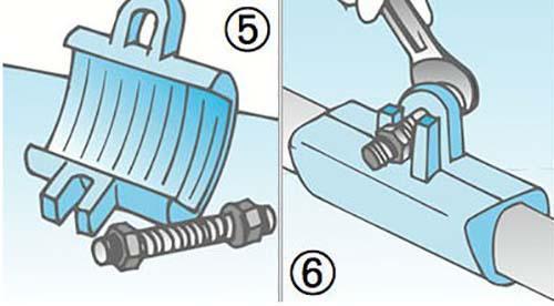 La riparazione con manicotto e vite di serraggio